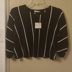 Zara striped crop top